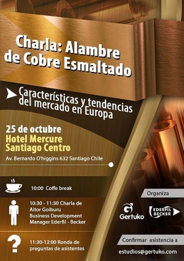 GERTUKOK EDERFIL - BECKER enpresarekin batera hitzaldia prestatu du Santiago de Chilen